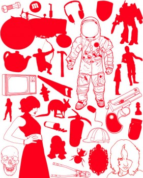 Astronaut, characters, design elements Vectors
