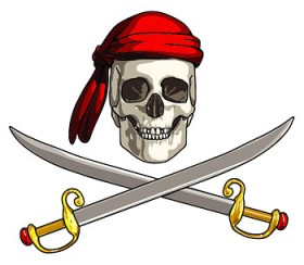 Pirate flag vector material
