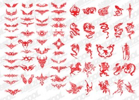 Variety of trend totem vector material