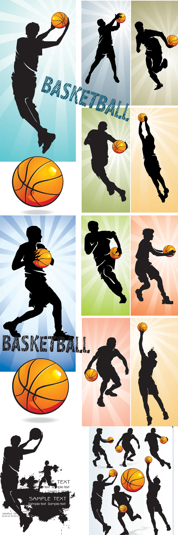 Basketball people silhouette   vector