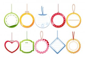 Lovely blank tag labels Vector