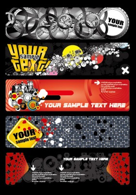 Some special banner vector material