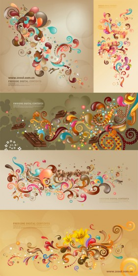 The trend of colorful vector case series   brown