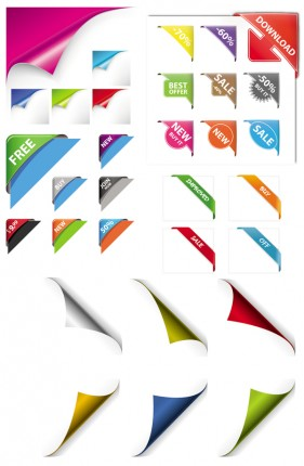 The various rolls Angular effect vector material