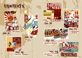 Sports and street pop culture elements vector material  1