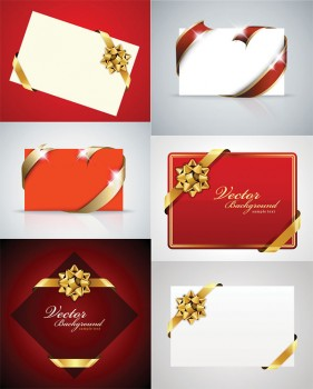 A fine holiday cards vector material