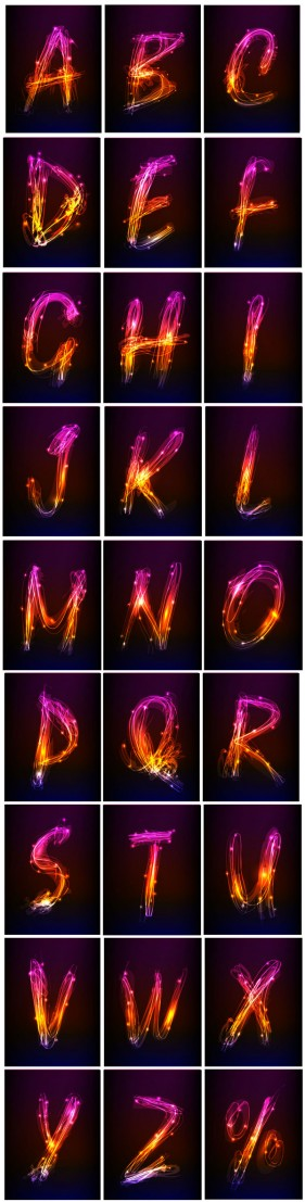 Brilliant special effects letters of the alphabet   Vector