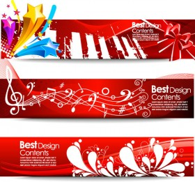Practical banner background vector material  1