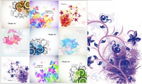 Trend floral card Vector Floral cards