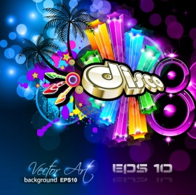 brilliant dynamic musical elements 04   vector material