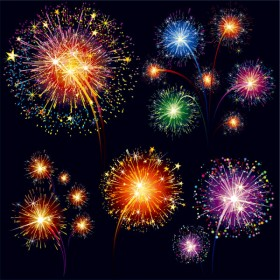 brilliant fireworks material vector material 01   vector material