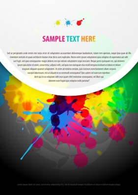 color paint splatter background 01   vector material