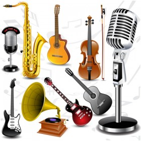 exquisite musical instrument music of material   Vector