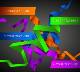 the exquisite color bar typesetting material 04   vector material