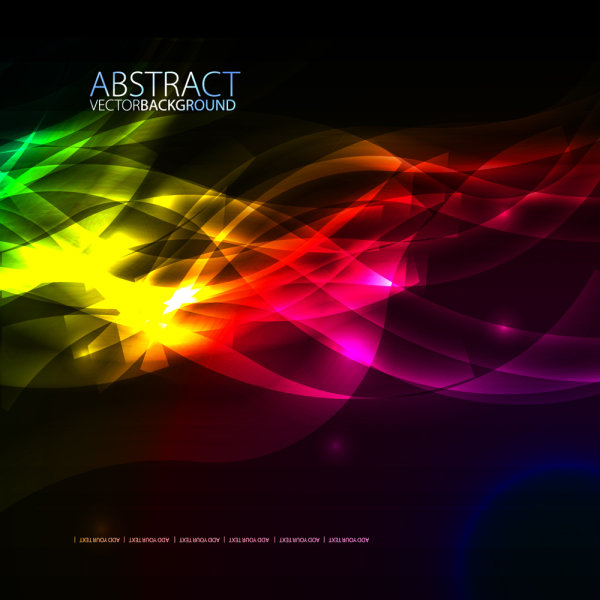 colorful fashion background 03   vector material