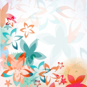 colorful flower background pattern 01   vector material