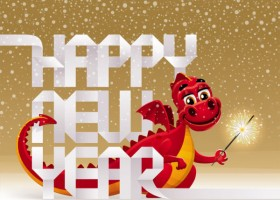 2012 Year of the Dragon Design 01   vector material