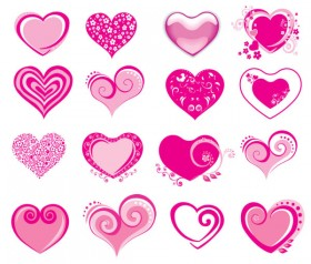 Vector pink heart shaped icon   Vector