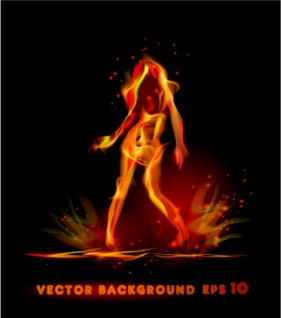 flame effect 03   Vector