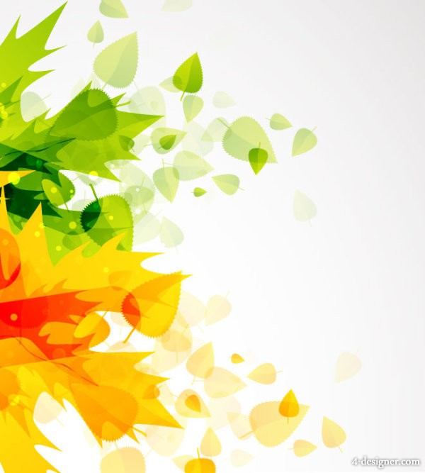 beautiful autumn leaf background vector material 01   Vector