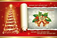 2013 beautiful Christmas background 04   vector material