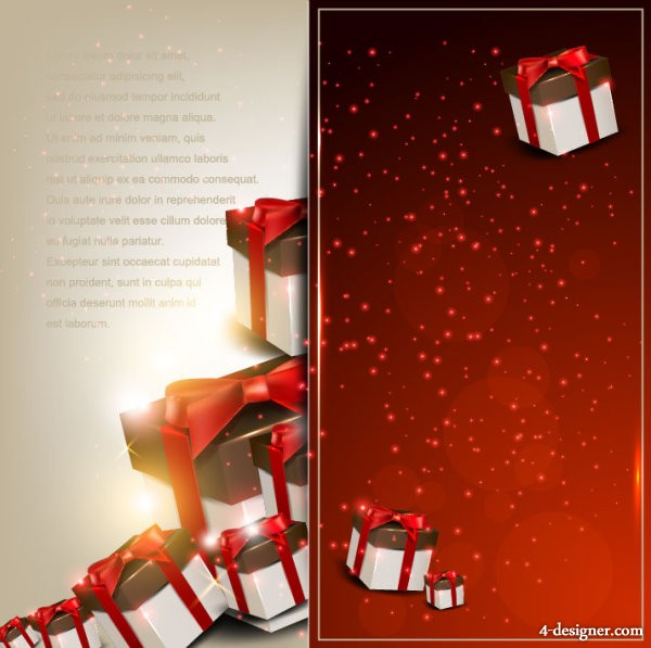 Banner04 exquisite gift box vector material
