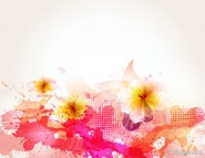 beautiful flowers background 05   vector material