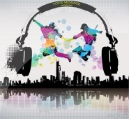 trend music city vector material