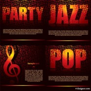 Party theme vector material