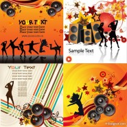 The trend of music background vector