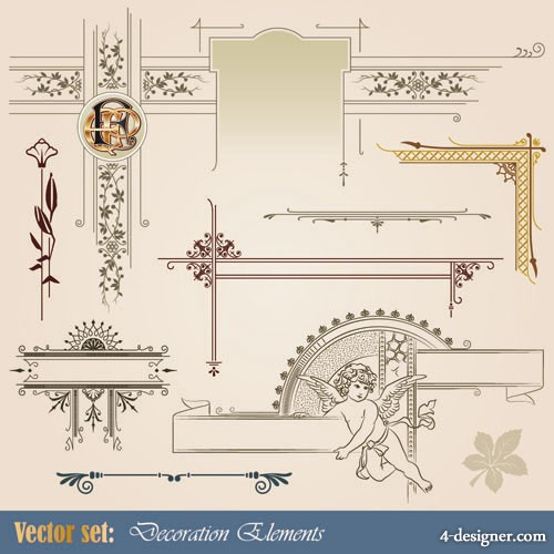 European pattern style 01   Vector