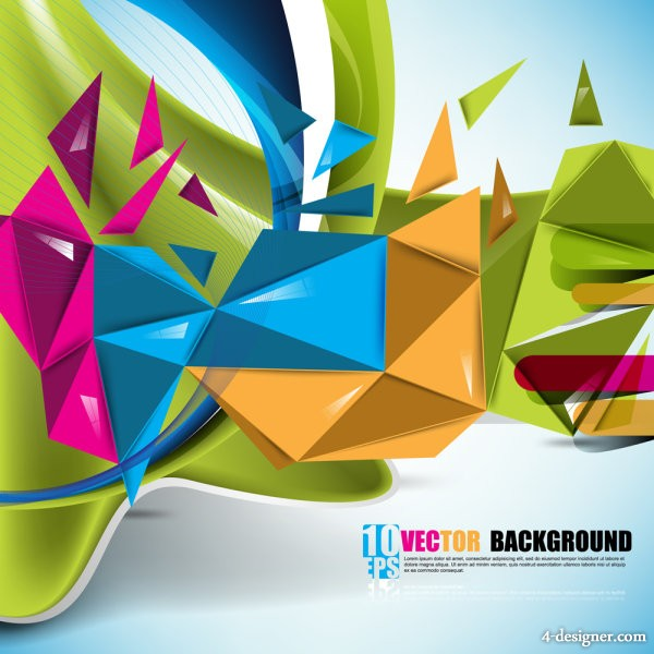 beautiful colorful background 01   vector material