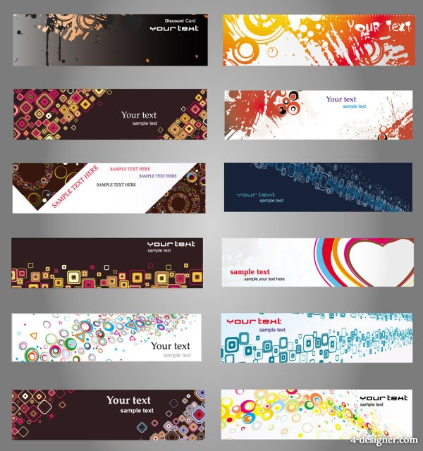 boutique card material vector material 02   vector material