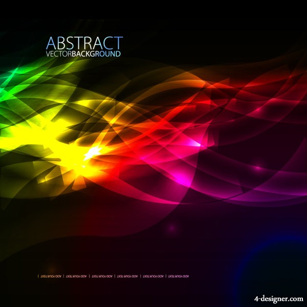 brilliant fashion psychedelic background 03   vector material