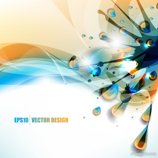 color paint splatter background 05   vector material