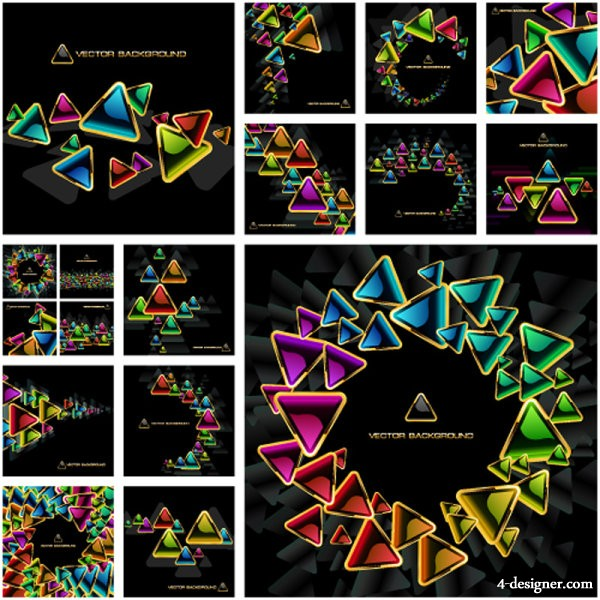 exquisite colorful plate 02   vector material