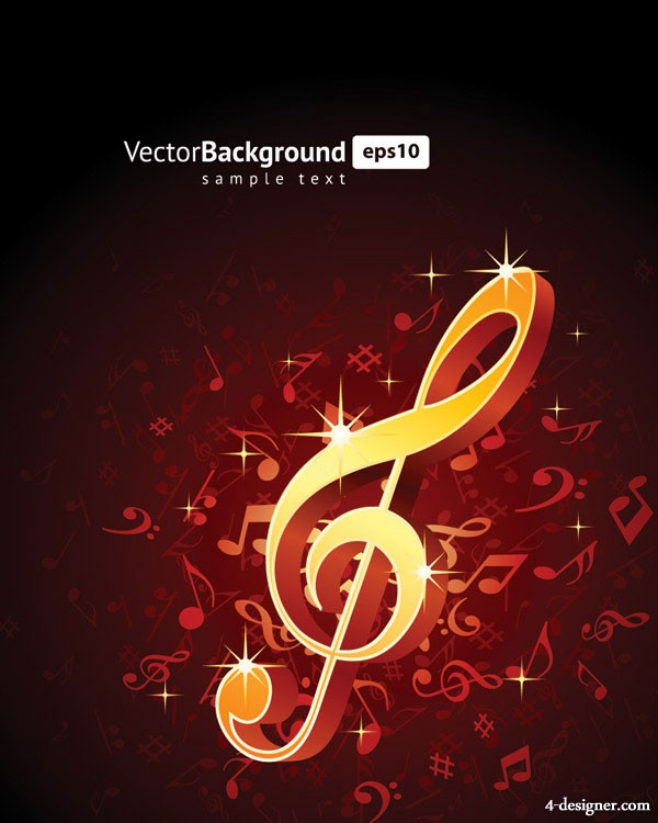 note musical theme vector material  5
