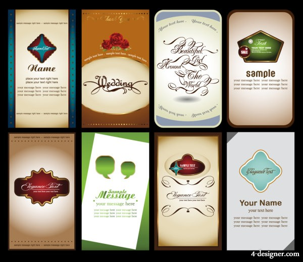 notes business card 03   vector material