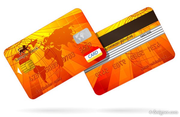 the exquisite bank card material 03   vector material