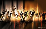 Colorful background dance by dancing