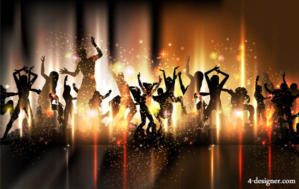 4 Designer Colorful Background Dance By Dancing