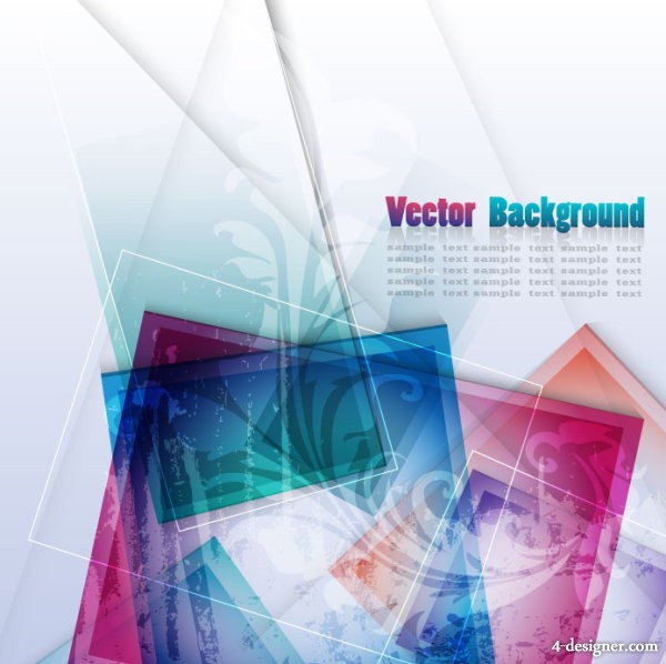 colorful abstract background 02   vector material