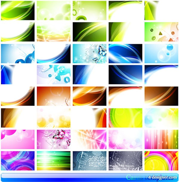 gorgeous beautiful card 01   vector material