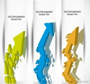 gorgeous long vertical banner background 03   vector material