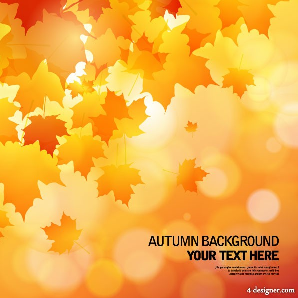 beautiful autumn background 02   vector material