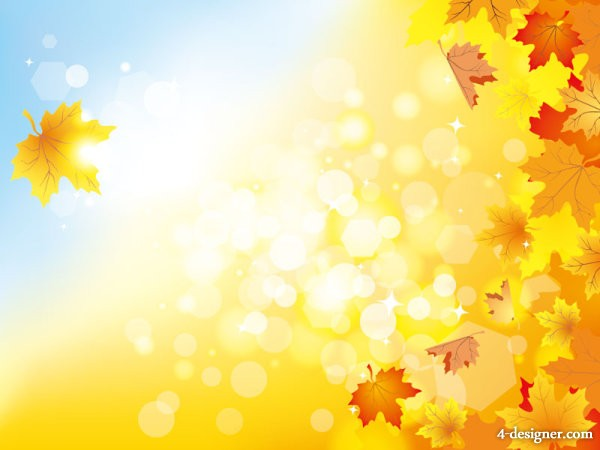 beautiful autumn background 05   vector material