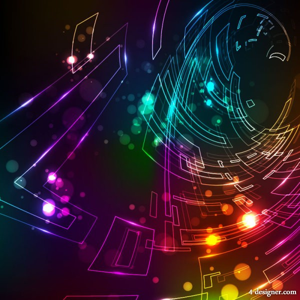 fashion light background 01   vector material