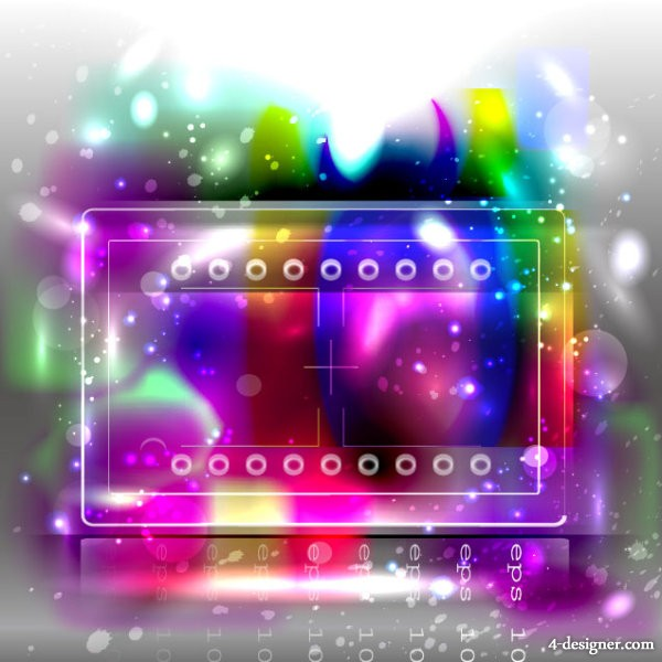 trend Colorful background 01   vector material