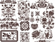Exquisite the classical traditional pattern vector material