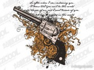 pistol and pattern vector material